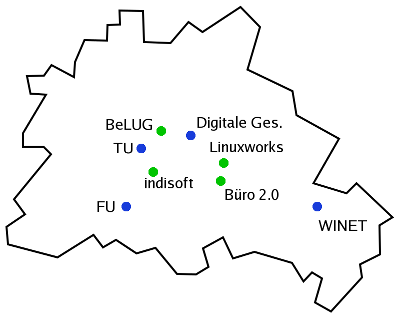 locations of the first LPD in Berlin